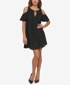 fc5dabfcec5 Jessica Simpson Cold-Shoulder Peasant Dress Women - Dresses - Macy s