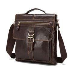 0e12c37b79 SoAr 100% Genuine Leather Men Messenger Bags Vintage Handbags Shoulder Bags  Male Tote Casual Luxury Brand Crossbody Bags Hot 4