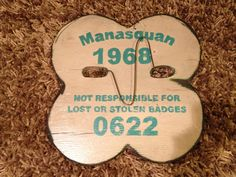 "Manasquan beach badge handmade by Signs by the Sea. Approx 14"" high. #jerseyshore #signsbythesea #manasquan"