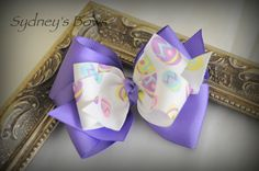 Easter ribbon boutique hair bow hair clip by SydneysBows on Etsy, $3.99