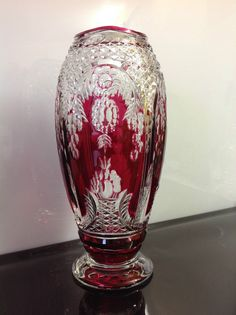 Vase Art Déco ADP9 du Val Saint Lambert signé