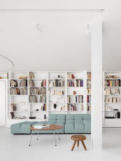 Minimalist Architecture, Contemporary Architecture, Living Area, Living Room, Long Walls, Minimalist Apartment, Soho House, Dezeen, Apartment Interior