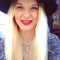 #boho #bohojewelry #bohogirl #boheme #bohemechic #redlips #blondgirl #selfie #portrait #blueeyes #asos #spring #mode #style #look