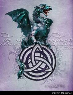 Celtic Dragon...Cetic Triquetra Picture by mysticmoonmedia on Etsy
