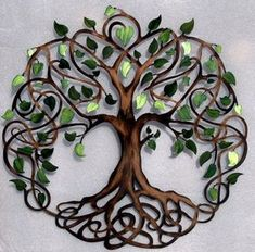 Green Pearl Sparkle Tip Infinity Tree Metal Tree Wall Art Primitive Candles, Decopage, Country House Design, Love Lock, Celtic Tree Of Life, Tree Wall Decor, Art Decor, Metal Tree Wall Art, Metal Art