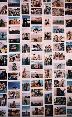 p i n t e r e s t carolinenietoo - room goals - Dorm Room Cute Room Ideas, Cute Room Decor, Tumblr Photo Wall, Images Murales, Photo Polaroid, Polaroid Wall, Polaroids On Wall, Instax Wall, Photowall Ideas
