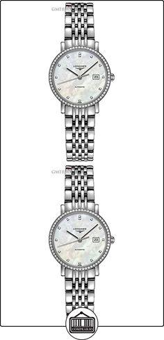 LONGINES RELOJ DE MUJER AUTOMÁTICO CORREA Y CAJA DE ACERO L43100876  ✿ Relojes para mujer - (Lujo) ✿