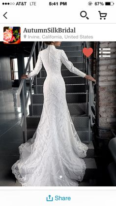 Back of dream wedding dress
