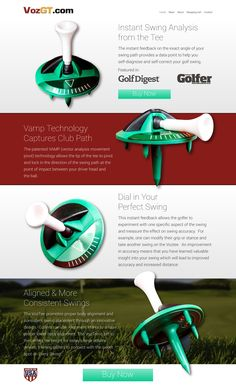 What do you think about this new golf website layout?   #GolfWebDesign  #GolfWebsite