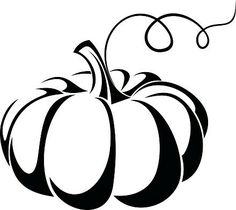 Illustration about Black silhouette of pumpkin. Illustration of stem, silhouette, curl - 34516730 Art Halloween, Vintage Halloween, Halloween Stencils, Black Silhouette, Silhouette Design, Silhouette Images, Free Silhouette, Pumpkin Vector, Freaky Memes
