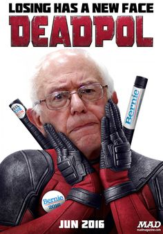 MAD Magazine, Idiotical Originals, Bernie Sanders, Deadpool