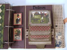 Scrapbook Boutique: MENS VINTAGE MINI ALBUM By Mariana Brulja