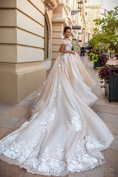 crystal design 2017 bridal off the shoulder wrap sweetheart neckline heavily embellished bodice princess romantic ball gown a line wedding dress royal train (emilia) bv