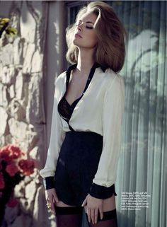 Julia Dunstall & Ryan Curry by Fabio Chizzola for Marie Claire UK April 2012 in 'An Affair to Remember'