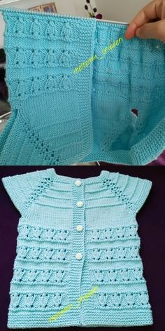 Crochet and Knitting Free 70 Patterns 2019 - Crochet Tricks and Tips Baby Knitting Patterns, Baby Sweater Patterns, Baby Patterns, Free Knitting, Diy Crafts Knitting, Diy Crafts Crochet, Crochet Art, Baby Vest, Baby Cardigan