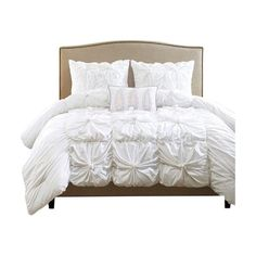 Pleated and ruffled bedding has been extremely trendy, what an awesome way to add a new flair of contemporary look to your bedroom. This ensemble is carefully pleated and ruffled to give you that custom look. Gorgeous bird print and textured decorative pillows are included in this magnificent textured bedding set.