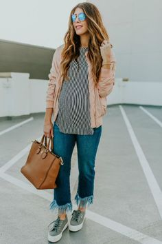 Top 3 Spring Denim Trends | spring style | spring fashion | spring outfit ideas | style tips for spring | outfit ideas for spring | maternity fashion | maternity style | pregnancy fashion | fashion for spring | warm weather fashion | how to style denim for spring || The Girl in the Yellow Dress