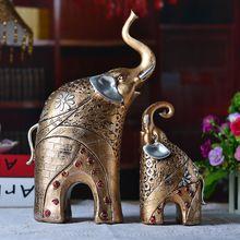 Q Frete grátis Início Mobiliário Decoração Jóias Artificial Estatueta Elefante Europeia Sala de estar Mobiliário Artesanato Um Par(China (Mainland))