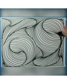 #beautiful #painting #nice 7 Zentangle Patterns, Zen Doodle Patterns, Zentangles, Doodle Art Drawing, Mandala Drawing, Art Drawings Sketches Simple, Pencil Drawings, Mandala Art Lesson, Doodle Art Designs