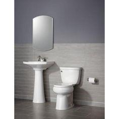 KOHLER Cimarron 4 in. Centerset Pedestal Combo Bathroom Sink in White-K-2362-4-0 - The Home Depot