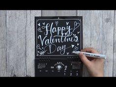 大人黒板なカレンダーvalentine's day(ポップカレンダー:ブラックボードカレンダー DIYchalkart)