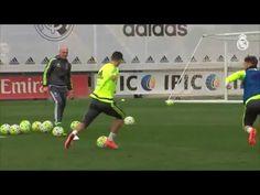 Sergio Ramos Casemiros great pass in training sets up Cristiano Ronaldo