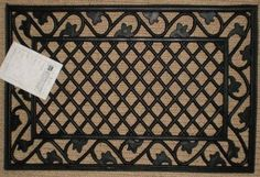 Leaf Border Cast Iron Vulcanized Rubber Rectangle Outdoor Mat 18x30 by Iron Gate - Classic styling and Ultra-Strong construction - Heavy duty rubber with the look of iron - Welcome your guests with this high quality doormat by Iron Gate. $15.99. Care: Sweep clean or hose off.. Doormats made from 100% Vulcanized Rubber to give Cast Iron look. Thick about half inch, provides great traction.. Classic elegance combined with unparalleled durability. Rugged yet stylish...