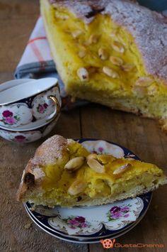 Torta rinascimentale con crema al limone e mandorle un dolce molto gustoso e profumato.