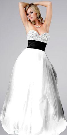Black And White evening dress | Prom Mafia» White Prom Dresses