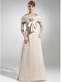 Mother of the Bride Dresses - $146.99 - Empire Scoop Neck Floor-Length Satin Mother of the Bride Dress With Lace  http://www.dressfirst.com/Empire-Scoop-Neck-Floor-Length-Satin-Mother-Of-The-Bride-Dress-With-Lace-008005934-g5934