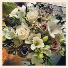 bridal posy made by Angela Adlard Floristry - Wirral Antique Roses, Wedding Flowers, Floral Design, Centerpieces, Floral Wreath, Wreaths, Bride, Antiques, Pretty