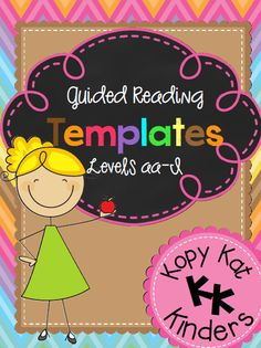 Kopy Kat Kinders:  Guided Reading Templates for Levels aa-I