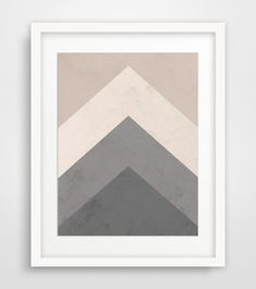 This is a downloadable print of beige, grey, brown geometric triangle mountains.    ===    Print out this modern wall artwork from your home
