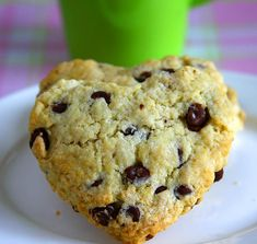 Surprise your loved ones with these heart shaped chocolate chip scones for breakfast on Valentine's Day! Try this rich & flaky chocolate chip scones without eggs. Ener-G egg replacer is used to substitute one egg in this chocolate chip scone recipe. Eggless Scone Recipe, Scone Recipes, Heart Shaped Cookie Cutter, Eggless Desserts, Heart Shaped Chocolate, Thing 1, Milk And Eggs, Pastry Blender, Vegetarian Chocolate