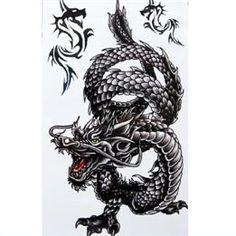 Waterproof Anti-perspiration Dragon Temporary Tattoos 5Pcs