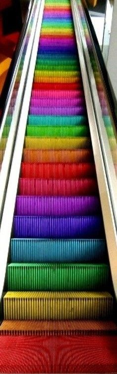 si tienes miedo como yo de las escaleras electricas solo imaginatels hasi con mas colores