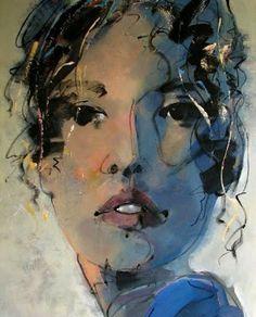 """Dame Logan"" -- by André Schirmer (b.1942, Canadian) via Galería de Arte Cristina Faleroni"
