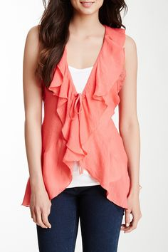 Lace & Ruffle Blouse by Simply Irresistible on @HauteLook