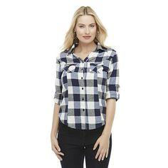 Canyon River Blues Women's Flannel Shirt - Buffalo Plaid
