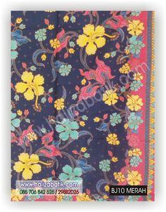 Baju Batik Modern, Baju Grosir, Butik Baju Batik, BJ10 MERAH Rp 65.000,- 2 Meter (+/-212cm x 113cm)  http://grosirbatik-pekalongan.com/kain-bj10-merah/