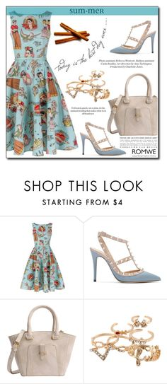 """""""Romwe 1/10"""" by fashion-pol ❤ liked on Polyvore featuring Valentino and vintage"""