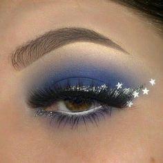 Makeup Eye Looks, Eye Makeup Art, Cute Makeup, Pretty Makeup, Makeup Inspo, Eyeshadow Makeup, Makeup Inspiration, Makeup Ideas, Star Makeup
