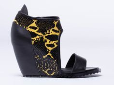 YES Sweet in Black Yellow at Solestruck.com