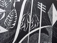 Charles Shearer 'Figures in a Landscape' (detail) collograph http://www.stjudesprints.co.uk/collections/charles-shearer
