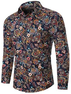 Cool Shirts For Men, Fashion Infographic, Formal Men Outfit, Stylish Mens Outfits, Suit Fashion, Mens Fashion, Paisley Print, Casual Shirts, Shirt Style