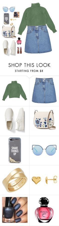 """""""Maybe✨✨✨"""" by mshlychenko ❤ liked on Polyvore featuring Yves Saint Laurent, Gap, French Connection, Kate Spade, Matthew Williamson, Cartier and Teeez"""