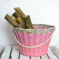 duży koszyk ombre z bawełnianym sznurkiem