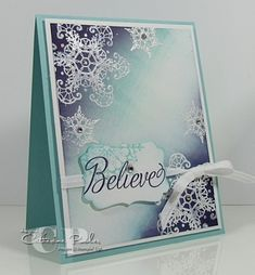 Stampin' Up! Christmas  Brayered Snowflake Soiree  by Catherine Pooler