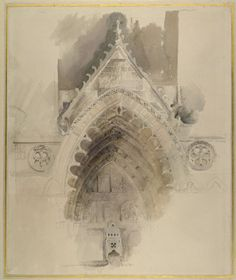 Ruskin, John - The northern Arch of the west Entrance of Amiens Cathedral