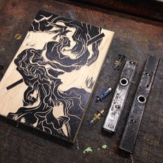 Finished with this tiny tiny woodcut time to get it inked and in a press! Only…